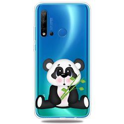 Bamboo Panda Clear Varnish Soft Phone Back Cover for Huawei nova 5i