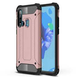 King Kong Armor Premium Shockproof Dual Layer Rugged Hard Cover for Huawei nova 5i - Rose Gold