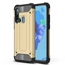 King Kong Armor Premium Shockproof Dual Layer Rugged Hard Cover for Huawei nova 5i - Champagne Gold