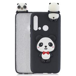 Red Bow Panda Soft 3D Climbing Doll Soft Case for Huawei nova 5i