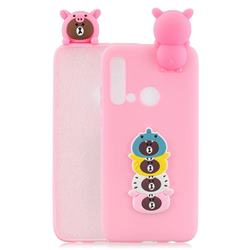 Expression Bear Soft 3D Climbing Doll Soft Case for Huawei nova 5i