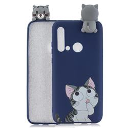 Big Face Cat Soft 3D Climbing Doll Soft Case for Huawei nova 5i