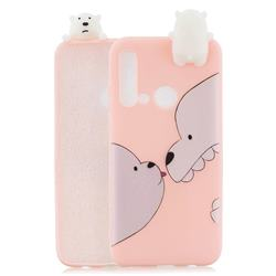Big White Bear Soft 3D Climbing Doll Soft Case for Huawei nova 5i