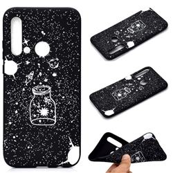 Travel The Universe Chalk Drawing Matte Black TPU Phone Cover for Huawei nova 5i