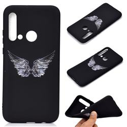 Wings Chalk Drawing Matte Black TPU Phone Cover for Huawei nova 5i