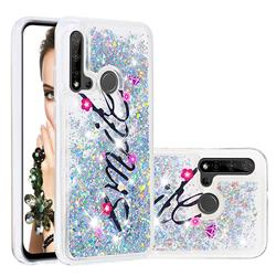 Smile Flower Dynamic Liquid Glitter Quicksand Soft TPU Case for Huawei nova 5i