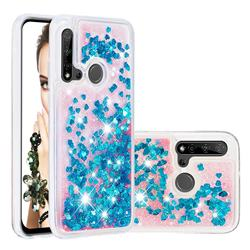 Dynamic Liquid Glitter Quicksand Sequins TPU Phone Case for Huawei nova 5i - Blue