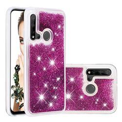 Dynamic Liquid Glitter Quicksand Sequins TPU Phone Case for Huawei nova 5i - Purple