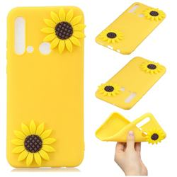 Yellow Sunflower Soft 3D Silicone Case for Huawei nova 5i