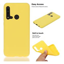 Soft Matte Silicone Phone Cover for Huawei nova 5i - Yellow