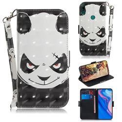 Angry Bear 3D Painted Leather Wallet Phone Case for Huawei nova 5i