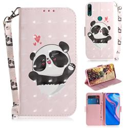 Heart Cat 3D Painted Leather Wallet Phone Case for Huawei nova 5i
