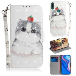 Cute Tomato Cat 3D Painted Leather Wallet Phone Case for Huawei nova 5i