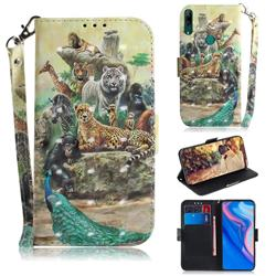 Beast Zoo 3D Painted Leather Wallet Phone Case for Huawei nova 5i