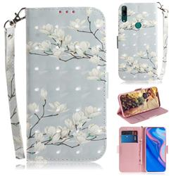 Magnolia Flower 3D Painted Leather Wallet Phone Case for Huawei nova 5i