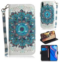 Peacock Mandala 3D Painted Leather Wallet Phone Case for Huawei nova 5i