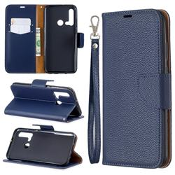 Classic Luxury Litchi Leather Phone Wallet Case for Huawei nova 5i - Blue