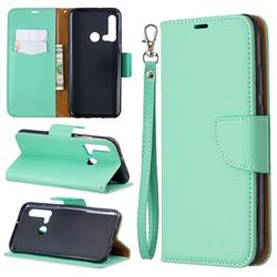 Classic Luxury Litchi Leather Phone Wallet Case for Huawei nova 5i - Green
