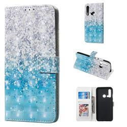 Sea Sand 3D Painted Leather Phone Wallet Case for Huawei nova 5i