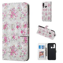 Roses Flower 3D Painted Leather Phone Wallet Case for Huawei nova 5i
