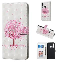 Sakura Flower Tree 3D Painted Leather Phone Wallet Case for Huawei nova 5i