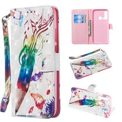 Music Pen 3D Painted Leather Wallet Phone Case for Huawei nova 5i