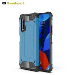 King Kong Armor Premium Shockproof Dual Layer Rugged Hard Cover for Huawei nova 6 - Sky Blue