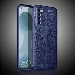 Luxury Auto Focus Litchi Texture Silicone TPU Back Cover for Huawei nova 7 5G - Dark Blue