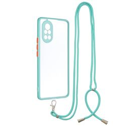 Necklace Cross-body Lanyard Strap Cord Phone Case Cover for Huawei nova 8 - Blue