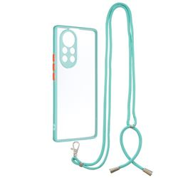 Necklace Cross-body Lanyard Strap Cord Phone Case Cover for Huawei nova 8 Pro - Blue