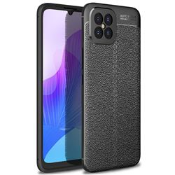 Luxury Auto Focus Litchi Texture Silicone TPU Back Cover for Huawei nova 8 SE - Black