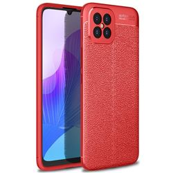 Luxury Auto Focus Litchi Texture Silicone TPU Back Cover for Huawei nova 8 SE - Red