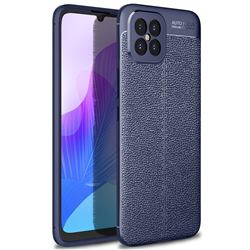 Luxury Auto Focus Litchi Texture Silicone TPU Back Cover for Huawei nova 8 SE - Dark Blue