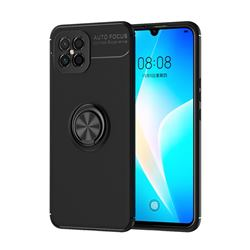Auto Focus Invisible Ring Holder Soft Phone Case for Huawei nova 8 SE - Black