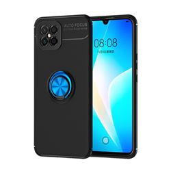 Auto Focus Invisible Ring Holder Soft Phone Case for Huawei nova 8 SE - Black Blue