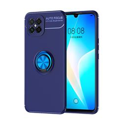Auto Focus Invisible Ring Holder Soft Phone Case for Huawei nova 8 SE - Blue