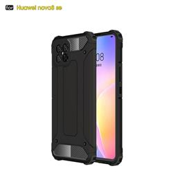 King Kong Armor Premium Shockproof Dual Layer Rugged Hard Cover for Huawei nova 8 SE - Black Gold