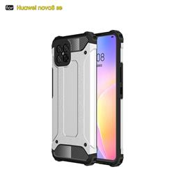 King Kong Armor Premium Shockproof Dual Layer Rugged Hard Cover for Huawei nova 8 SE - White