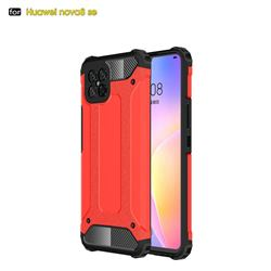 King Kong Armor Premium Shockproof Dual Layer Rugged Hard Cover for Huawei nova 8 SE - Big Red