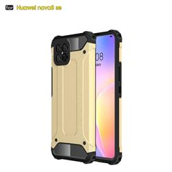 King Kong Armor Premium Shockproof Dual Layer Rugged Hard Cover for Huawei nova 8 SE - Champagne Gold