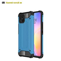 King Kong Armor Premium Shockproof Dual Layer Rugged Hard Cover for Huawei nova 8 SE - Sky Blue