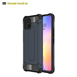 King Kong Armor Premium Shockproof Dual Layer Rugged Hard Cover for Huawei nova 8 SE - Navy