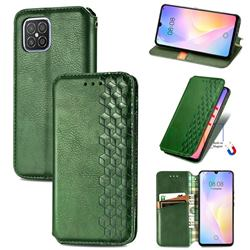 Ultra Slim Fashion Business Card Magnetic Automatic Suction Leather Flip Cover for Huawei nova 8 SE - Green