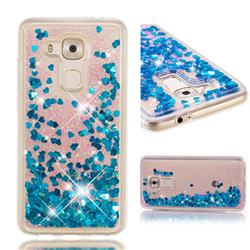 Dynamic Liquid Glitter Quicksand Sequins TPU Phone Case for Huawei Nova Plus - Blue