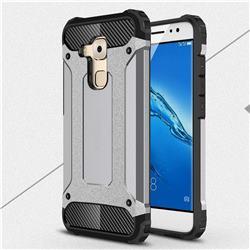 King Kong Armor Premium Shockproof Dual Layer Rugged Hard Cover for Huawei Nova Plus - Silver Grey
