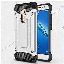 King Kong Armor Premium Shockproof Dual Layer Rugged Hard Cover for Huawei Nova Plus - Technology Silver