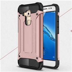 King Kong Armor Premium Shockproof Dual Layer Rugged Hard Cover for Huawei Nova Plus - Rose Gold