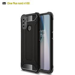 King Kong Armor Premium Shockproof Dual Layer Rugged Hard Cover for OnePlus Nord N100 - Black Gold