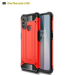 King Kong Armor Premium Shockproof Dual Layer Rugged Hard Cover for OnePlus Nord N100 - Big Red