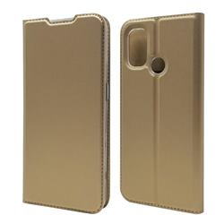 Ultra Slim Card Magnetic Automatic Suction Leather Wallet Case for OnePlus Nord N100 - Champagne